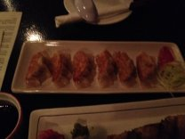 Amazing chicken and pork gyoza!