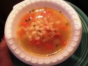 Vegetable barley soup bowl #1