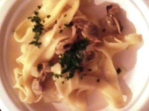 Linguine with a clam sauce, awesome!