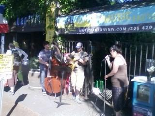 Impromptu band at Bastille Day.