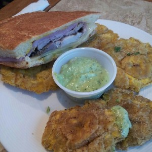 A half cubano and tostones make my Friday better.