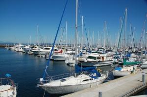 The beautiful marina