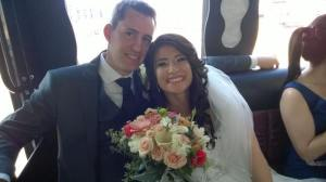 The newly weds, thanks to those posting pics on Facebook.