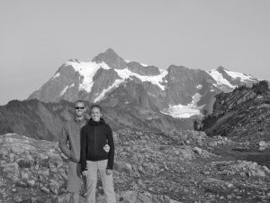 Standing in front of Mt. Shuksan, post hike, at Artist's Point.