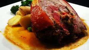 This pork was herby, well seasoned, moist, tender, crispy, and the potatoes were salty and the broccolini perfect.