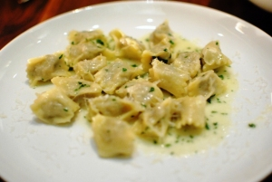 Agnolotti stuffed with veal and lamb
