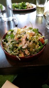 Huge and delicious smoked chicken salad.