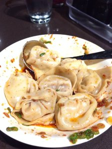 Our favorite spicy pork dumplings