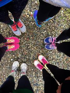 Pre-run shoe photo