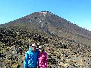Pitstop one...Mt. Doom in the background from Lord of the Rings.