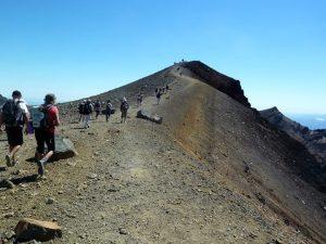 Walk to summit.