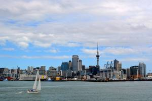 View of Auckland from asea