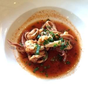 Calamari with cauliflower