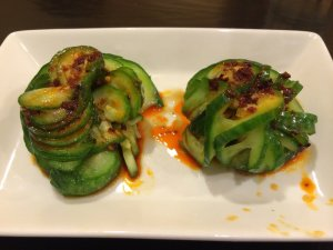 Sweet and spicy cucumber