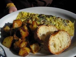 Luc's mushroom omelet