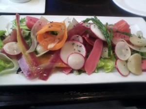 Baby radish salad
