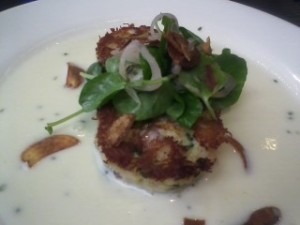 Crab cakes with citrus beurre blanc