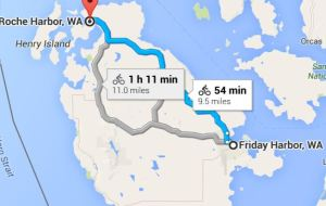 9.5 miles to Roche Harbor