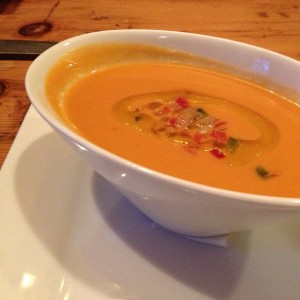 This time we started with the creamy and refreshing gazpacho!