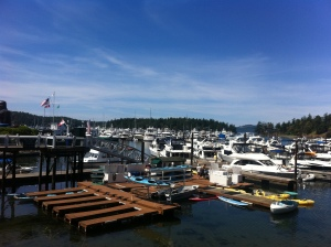 View from Madrona Bar and Grill in Roche Harbor