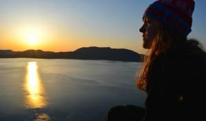 Watching the beautiful sunset