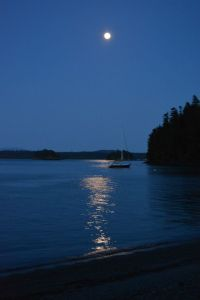 Our sailboat at night