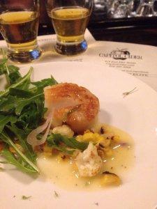 Delicious scallop plate