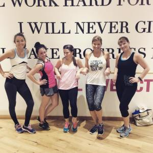 From the Lorna Jane Facebook page, post class!