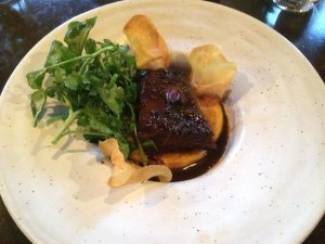 First up was the most amazing beef short rib on sweet potato puree with watercress and an amazing old fashioned at the Old Sage.