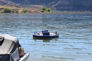 Bryan and I floating!