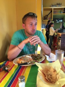 Midway through burrito