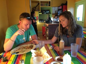 Helping out just a bit with the burrito