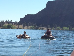 Derek and Mark ready to duke it out on the tube.