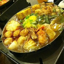 Curry fish ball hotpot...yes sir!