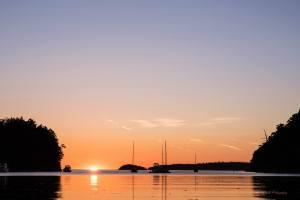Beautiful sunset in Fox Cove.