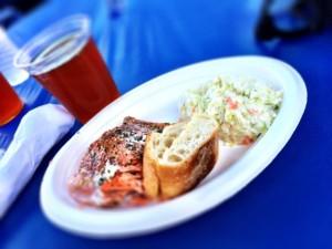 Delicious salmon dinner!