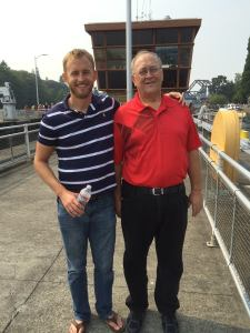 Bryan and Lon at the Locks