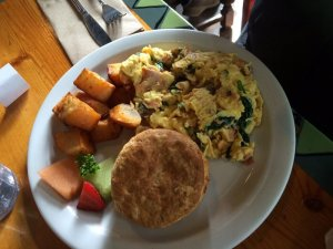 This was the best scramble I have had in awhile!!  And those biscuits...