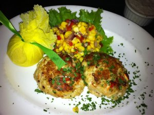 Super duper meaty lobster and crab cakes.