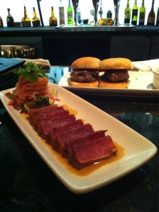 Tuna and prime rib sliders.