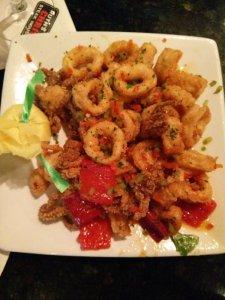 Sweet and sour calamari!