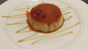 Cafe con leche flan...yes please!