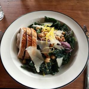 Muy bueno turkey kale caesar salad