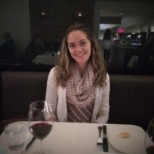 Dim and awful photo of me at dinner.