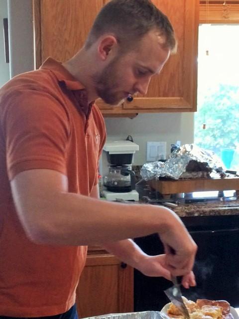 Bryan prepping a dish