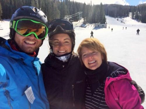 The ski trio