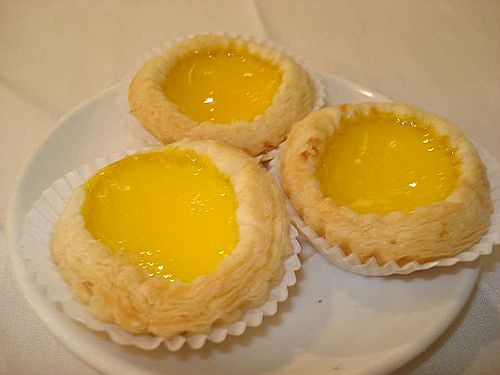 Still warm egg tarts