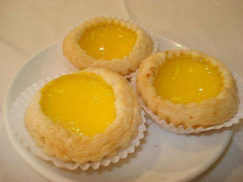 Still warm egg tarts