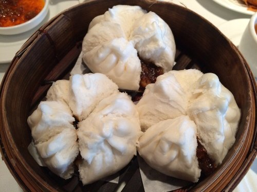 BBQ steamed buns in the oven
