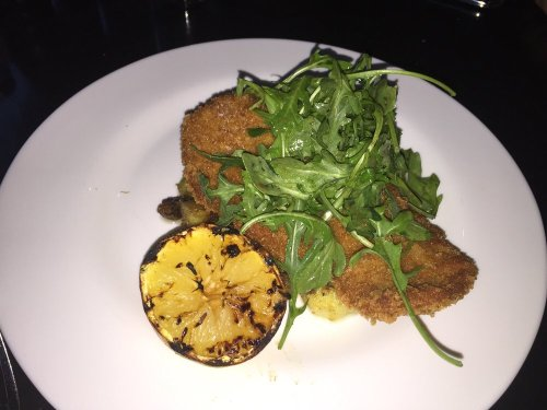 Pork schnitzel at Franklin's!
